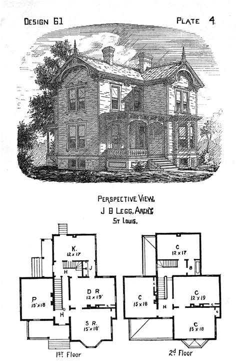 Victorian House Plan by The Gallery For Gt Vintage Victorian House Plans