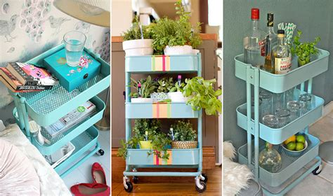 raskog cart ideas ikea raskog cart styling ideas popsugar home