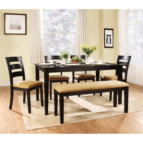 wood bench dining oval untreated wooden dining table set with curved bench and armless dining chairs