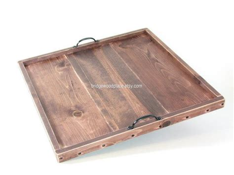 Large Tray For Ottoman Coffee Table Ottoman Tray Large 23 X 23 Wooden Coffee Table Tray Serving Tray Wedd