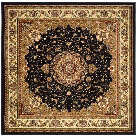 Safavieh Lyndhurst Black Ivory 8 Ft X 8 Ft Square Area Black And Ivory Area Rugs
