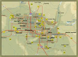 Phoenix Area Map by Arizona Golfer Com Arizona Golf Courses