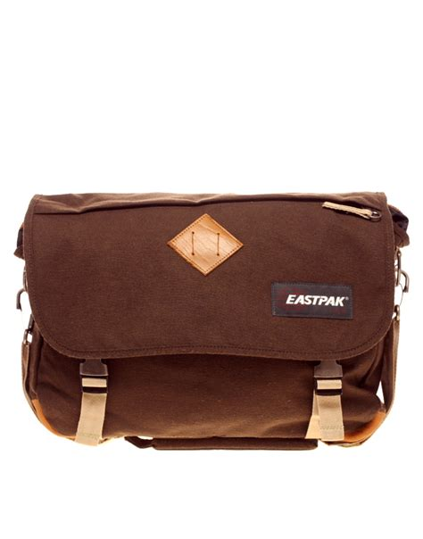 eastpak bag eastpak eastpak messenger bag in brown for lyst