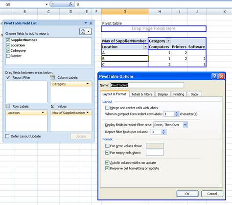 Z Side Table microsoft excel text values in a pivot table super user