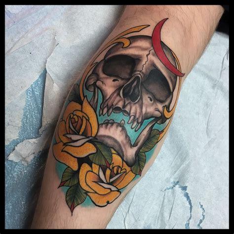 traditional skull tattoo noahmorris skull and roses neo traditional skull