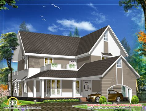 home design for roof sloping roof house design 3305 sq ft indian home decor