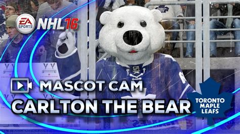 toronto maple leafs carlton the nhl 16 mascot carlton the toronto maple leafs