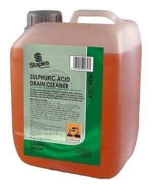 sulfuric acid drain cleaner clearing blocked drains drain acid caustic soda