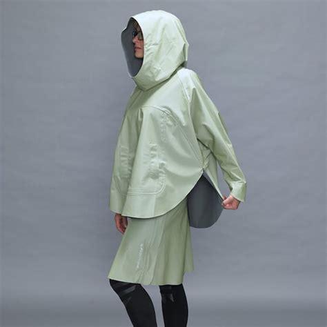 design lab poncho tulipano verde women poncho jacket polychromelab