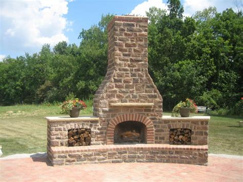 Unilock Fireplace Kits by Gbr Masonry Inc Exterior Fireplaces