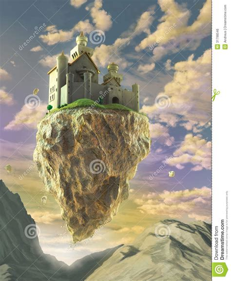 floating castle royalty free stock image image 31798546