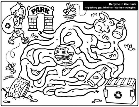 recycle coloring pages preschool recycling color pages coloring home
