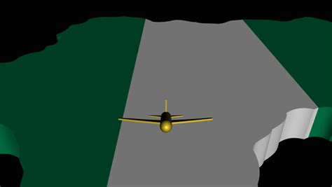 flags of the world x plane plane taking off from nigeria map flag animation stock