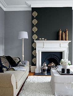 dark grey feature wall living room google search