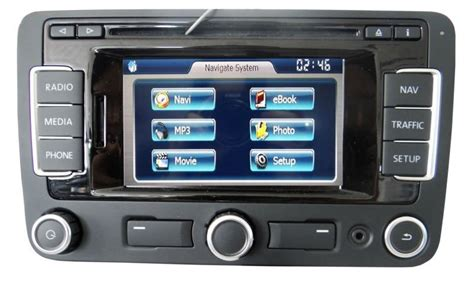 vw seat rns  bt dab navigation retrofit audio images