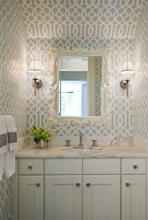 can i wallpaper a bathroom it s curtains top trends decor to adore