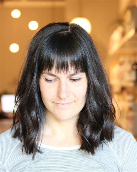 lob blunt bangs lob hairstyles with bangs life style by modernstork com