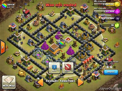 layout coc yang susah di tembus art of war jb area