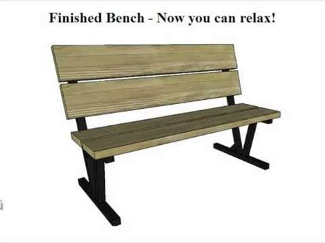 park bench patterns park bench plans youtube