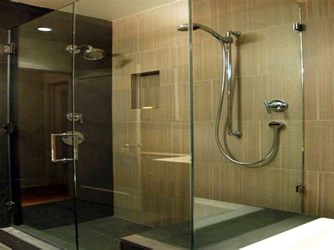 contemporary bathroom showers modern glass tile showers
