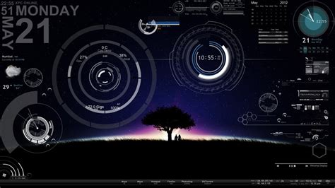 Home Windows Design Pictures by Download Skin Rainmeter And Take Your Desktop To Next Level