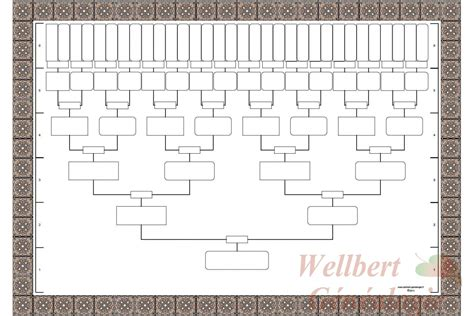blank family tree template blank family tree template 6 generations printable empty