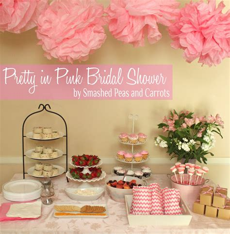 pink wedding shower themes pretty in pink bridal shower smashed peas carrots