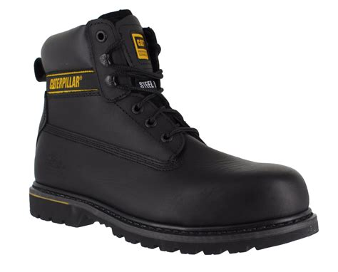 Sepatu Caterpillar Holton Steel Toe mens caterpillar holton sb safety steel toe cap lace up
