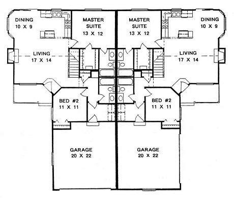ranch duplex floor plans 66 best images about duplex plans on pinterest