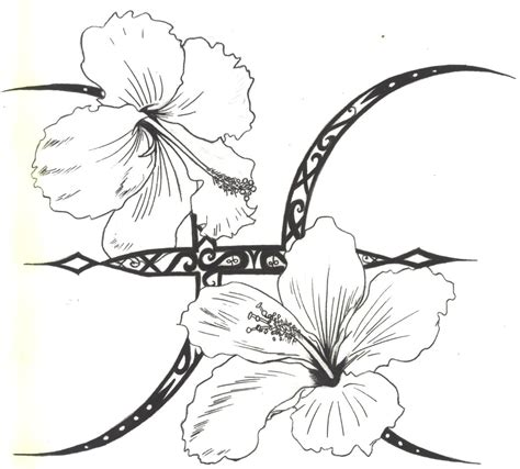 pisces flower tattoo designs hibiscus images designs