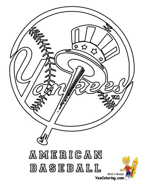 New York Yankees Baseball Logo Coloring Pages Coloring Pages New York Yankees Coloring Pages