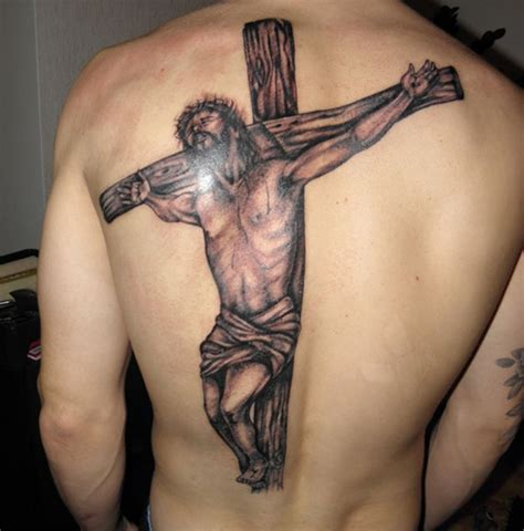 25 crucifix tattoo designs for men