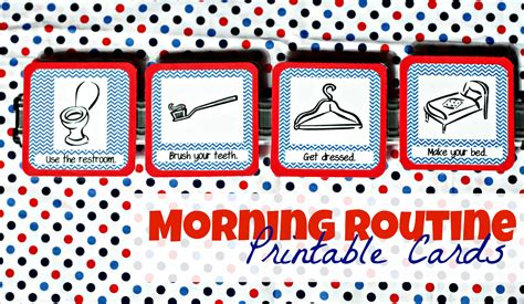 Daily Routine Cards Printable