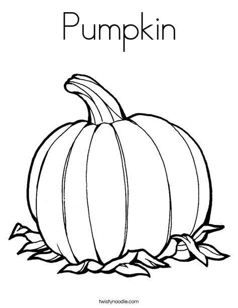 Pumpkin Coloring Page Twisty Noodle Pumpkin Coloring Pages