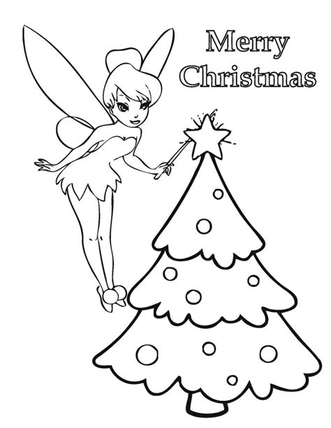 tinkerbell christmas tree coloring page h m coloring pages