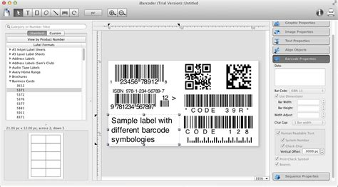 design labels on mac ibarcoder the barcode generator and label maker software