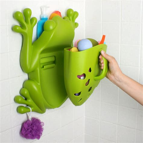 frog toy holder bathtub boon frog pod bath toy scoop storage bath toys bath