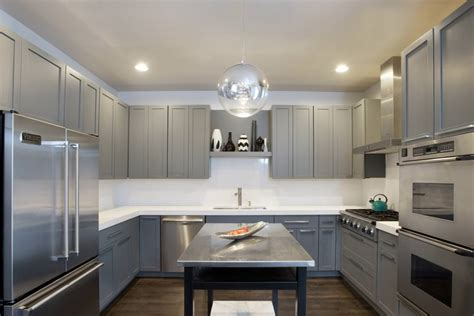 24 Grey Kitchen Cabinets Designs Decorating Ideas Grey Modern Kitchen Cabinets