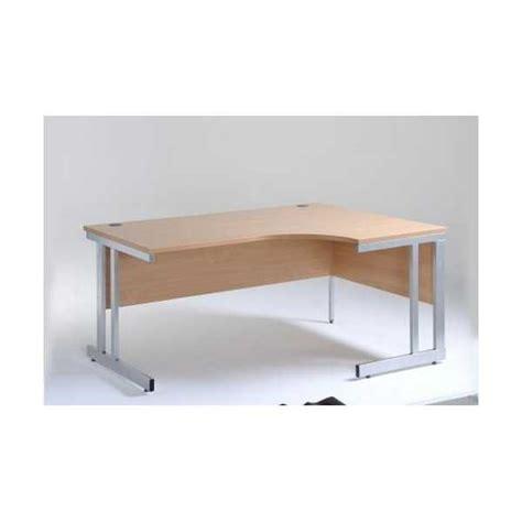 Ergonomic Corner Desk Momento Ergonomic Corner Radial Desk With Cantilever Frame
