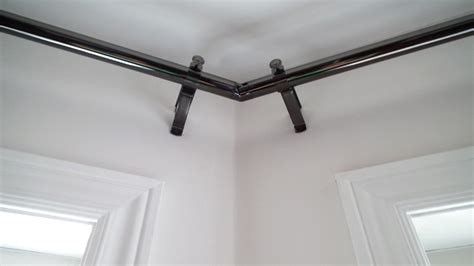 corner curtain rod corner curtain rods buy corner window curtain rods