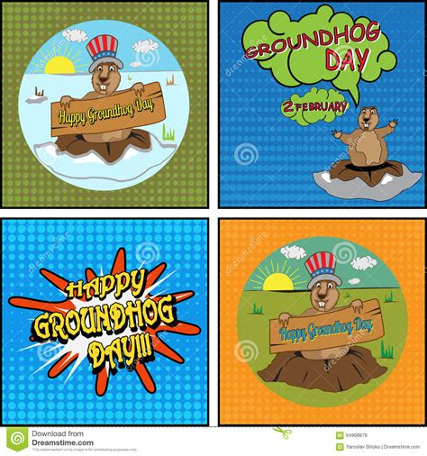 groundhog day hinduism cards for groundhog day stock vector image 64908878