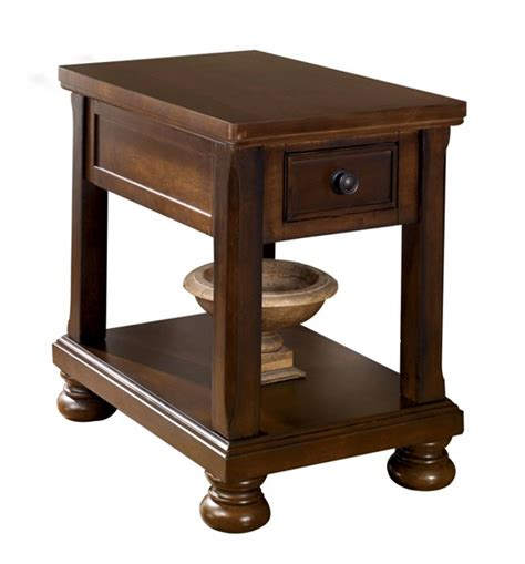 porter chairside end table ashley furniture porter brown chair side table the