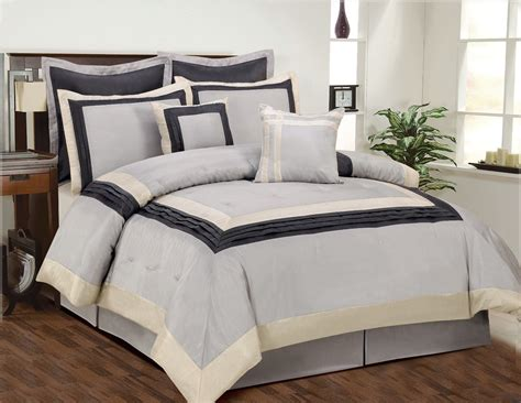 clearance 8pc luxury bedding set leslie silver pewter