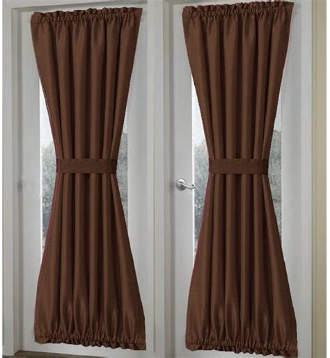 brown door curtain solid brown french door curtain panels