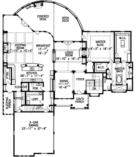 mountain lodge floor plans mountain lodge with elevator 15812ge architectural