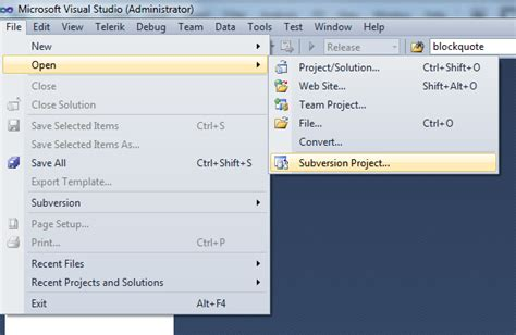visual studio ankhsvn tutorial ankhsvn basics tutorial