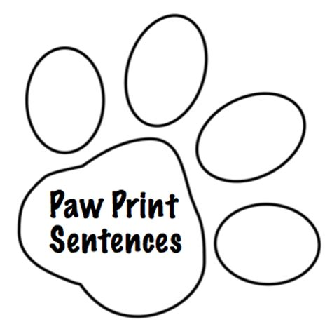 paw print sentences freebie