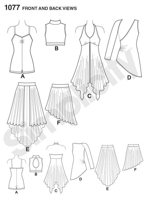 pattern review best patterns 2015 simplicity 1077 girls misses knit dancewear sewing pattern