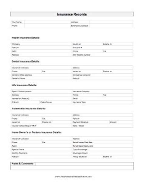 How To Make Car Insurance Papers - 20 best images about printable forms on
