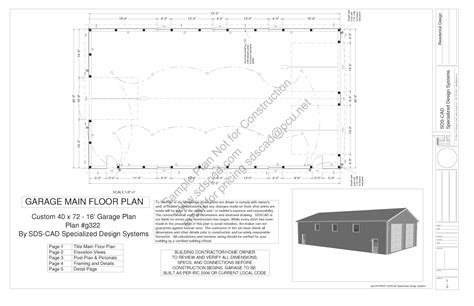 Awesome Pole Barn House Blueprints #3: G322-40x72-16-pole-barn-plans-blueprints-construction-documents-sample_page_1.png
